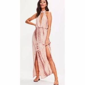 NEW Missguided Tie-Dye Long Maxi Dress